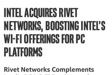 英特尔收买Rivet公司将Killer杀手网卡收入囊中