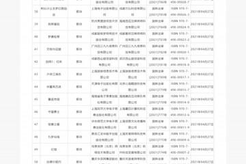 国家新闻出版署发布4月份国产网络游戏审批信息