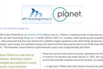 地球卫星数据彭博终端PlanetLabs即将上市上一财年营收破亿